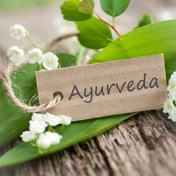 Ayurveda tag on plant