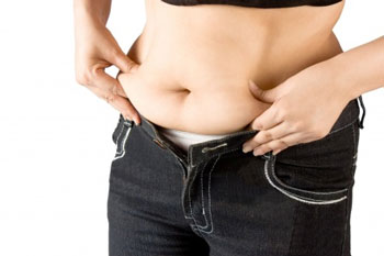 fat stored on stomach